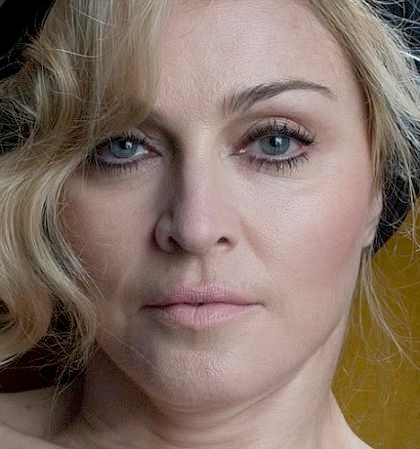 Unretouched Madonna in 2010.