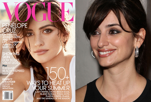 Vogue May Cover and Penelope Cruz Unretouched